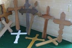 Bilder-Grabmale-Holz-Kreuze-I